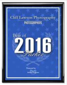 2016 Best Photographer of Parker, CO